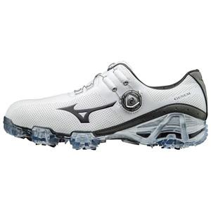 51GM1700-05-255 ミズノ メンズ・ゴルフシューズ (ホワイト×グレイ・25.5cm) MIZUNO GENEM 007 Boa EEE