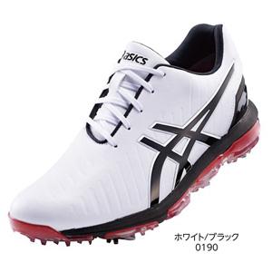 TGN920 WHBK 24.5 アシックス メンズ・ソフトスパイク・ゴルフシューズ (ホワイト/ブラック・24.5cm) GEL-ACE PRO 3 TGN920 0190