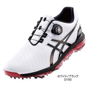 TGN919 WHBK 27.5 アシックス メンズ・ソフトスパイク・ゴルフシューズ (ホワイト/ブラック・27.5cm) GEL-ACE PRO 3 Boa TGN919 0190