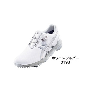 TGN919 WHSL 24.5 アシックス メンズ・ソフトスパイク・ゴルフシューズ (ホワイト/シルバー・24.5cm) GEL-ACE PRO 3 Boa TGN919 0193