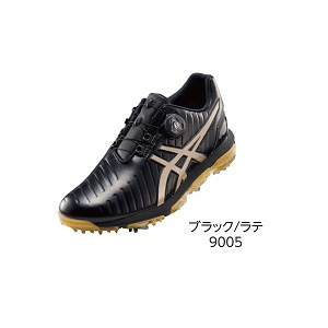 TGN919 BKLA 27.0 アシックス メンズ・ソフトスパイク・ゴルフシューズ (ブラック/ラテ・27.0cm) GEL-ACE PRO 3 Boa TGN919 9005