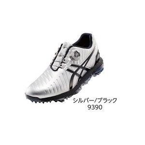 TGN919 SLBK 25.0 アシックス メンズ・ソフトスパイク・ゴルフシューズ (シルバー/ブラック・25.0cm) GEL-ACE PRO 3 Boa TGN919 9390
