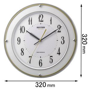 8MY510SR03 シチズン 電波掛け時計 ミレディサヤカ [リズムミレデイサヤカ]【返品種別A】
