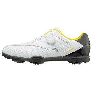 51GM1760-91-270 ミズノ メンズ・ゴルフシューズ (ホワイト×ブラック・27.0cm) LIGHT STYLE 002 Boa