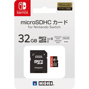 Switch ブランド買うならブランドオフ マイクロSDカード 32GB 贈答 for Nintendo ホリ マイクロSD32GB NSW-043