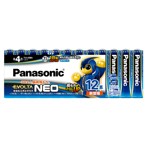 LR03NJ ギフト 12SW パナソニック アルカリ乾電池単4形 期間限定特別価格 12本パック Panasonic LR03NJ12SW EVOLTA NEO