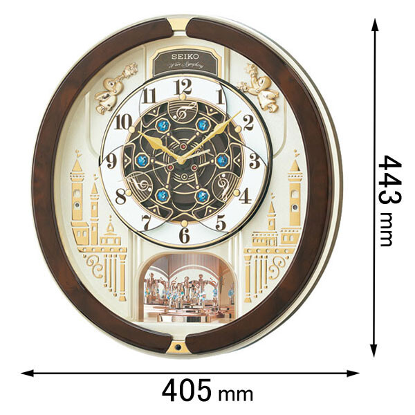 RE-579-B セイコークロック 電波からくり時計 セイコーメロディ [RE579B]【返品種別A】