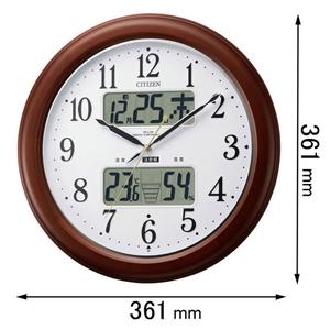 4FY620-006 シチズン 電波掛け時計 インフォームナビEX [4FY620006]【返品種別A】