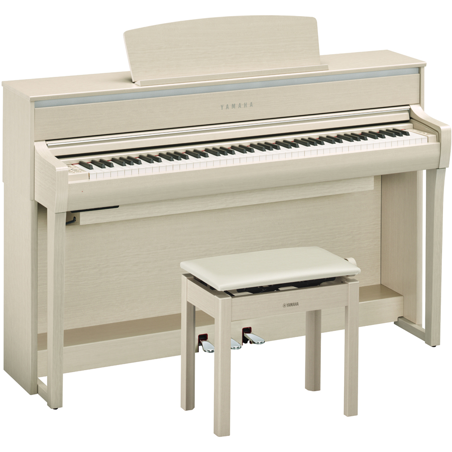 CLP-675WA ヤマハ 電子ピアノ(ホワイトアッシュ調)【高低自在椅子&ヘッドホン&ソングブック付き】 YAMAHA Clavinova(クラビノーバ)