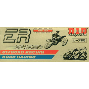 520ERV3-100ZB G&G DID バイク用チェーン(カラー:ゴールド / リンク数:100) ER レース チェーン