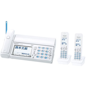 KX-PZ710DW-W パナソニック デジタルコードレス普通紙ファクス(子機2台付き) ホワイト Panasonic おたっくす