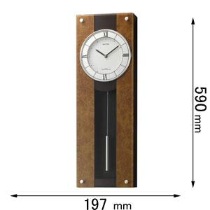 4MXA01RH06 リズム時計 電波掛け時計 振り子時計 [モダンライフM01]【返品種別A】