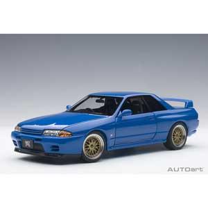 1/18 日産 スカイライン GT-R (R32) V-Spec II チューンド・バージョン (ブルー)【77415】 オートアート