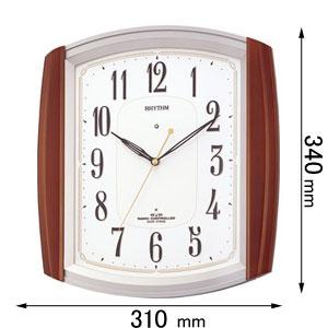 4MN469RH06 リズム時計 電波掛け時計 報時時計 [ネムリナM469R]【返品種別A】