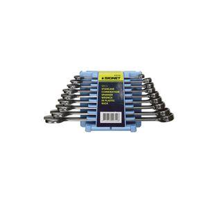 30701 SIGNET 9PCSステンレスコンビネーションレンチセット シグネット