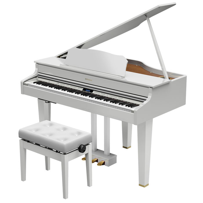 GP607-PWS ローランド 電子グランドピアノ(白塗鏡面塗装仕上げ)【高低自在椅子&楽譜集付き】 Roland Digital Grand