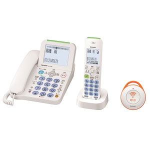 JD-AT82CE シャープ デジタルコードレス電話機 (子機1台および緊急呼出ボタン1台)ホワイト系 SHARP