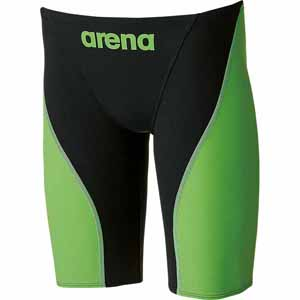 DS-ARN7011M-BKLG-SS アリーナ メンズ用水着(競泳用)(ブラック×Lグリーン・SSサイズ) arena 【Fina承認】 ハーフスパッツ アクアフォース フュージョン2
