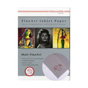 430532 ハーネミューレ インクジェット用紙 厚手 マットスムースホワイト A3+ 25枚 Hahnemuhle Fine Art Inkjet Paper with Deckle Edgeフォトラグ デックルエッジ 308gsm