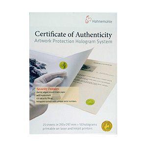 430454 ハーネミューレ ハーネミューレ作品証明書ホログラムシステム Hahnemuhle Certificate of Authenticity 作品証明書ホログラムシステム