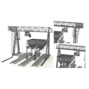 [鉄道模型]コスミック (HO) HS-96K ガントリークレーンと給炭槽組立キット