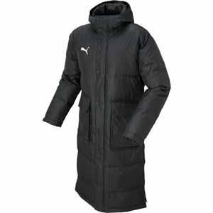 PAJ-654984-01-XL プーマ サッカー ロングコート(ブラック・XLサイズ) PUMA(プーマ) TT ESS PRO ロングダウンコート