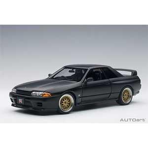 1/18 日産 スカイライン GT-R (R32) V-Spec II チューンド・バージョン (マット・ブラック)【77418】 オートアート