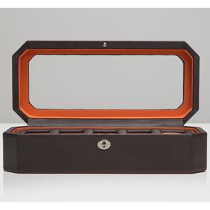 458306-WINDSOR ウルフ 時計収納ケース(5本収納) ブラウン/オレンジ WOLF [458306WINDSOR]【返品種別B】