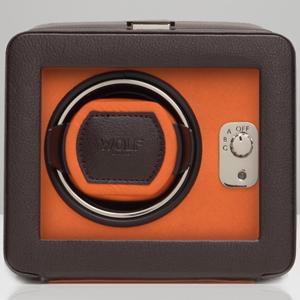 452506-WINDSOR ウルフ ウォッチワインダー1本巻き ブラウン/オレンジ WOLF [452506WINDSOR]【返品種別B】