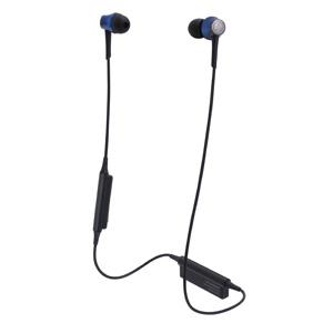ATH-CKR55BT-BL オーディオテクニカ Ver.4.1 Bluetooth対応ワイヤレスヘッドセット(ディープブルー) audio-technica