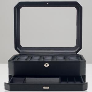 4586029-WINDSOR ウルフ 時計収納ケース(10本収納) ジュエリーボックス ブラック WOLF [4586029WINDSOR]【返品種別B】