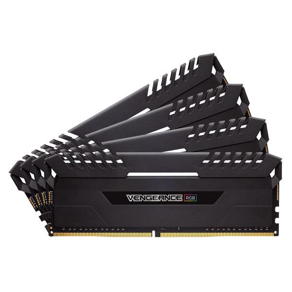 CMR32GX4M4A2666C16 コルセア PC4-21300 (DDR4-2666)288pin DDR4 DIMM 32GB(8GB×4枚) CORSAIR Vengeance RGB Series