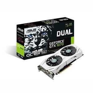 DUAL-GTX1070-O8G エイスース PCI-Express 3.0対応 グラフィックスボードASUS DUAL-GTX1070-O8G