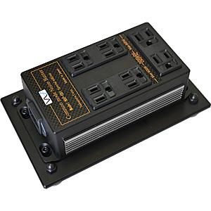 NXP-001SE-CHROM 中村製作所 電源タップ(出力アナログ用・デジタル用 合計7口)【クロームメッキ・サイドパネル】 NS 《電源雑音軽減機(床据置型)》