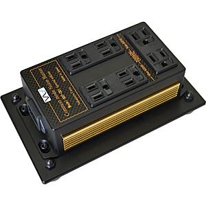 NXP-001SE-GOLD 中村製作所 電源タップ(出力アナログ用・デジタル用 合計7口)《金メッキ・サイドパネル》【受注生産品】 NS 《電源雑音軽減機(床据置型)》