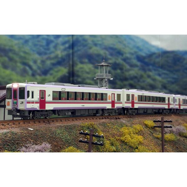 [鉄道模型]グリーンマックス 【再生産】(Nゲージ) 50586 JRキハ110形(300番代・秋田リレー号) 4両編成セットB (動力付き)