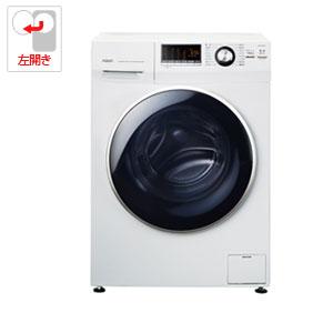 AQW-FV800E-W アクア 8.0kg ドラム式洗濯機【左開き】ホワイト AQUA Hot Water Washing(乾燥機能なし)