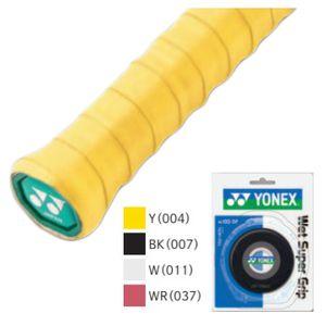 YONEX AC102-5P 004 ヨネックス ウェットスーパーグリップ5本パック ケース付(イエロー・幅25mm×長さ1200mm×厚さ0.6mm) YONEX
