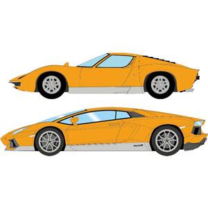 1/43 Lamborghini Miura 50th Anniversary set オレンジ/シルバー【EMCOF011B】 メイクアップ