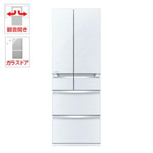 (標準設置料込)MR-WX47C-W 三菱 470L 6ドア冷蔵庫(クリスタルホワイト) MITSUBISHI 置けるスマート大容量 WXシリーズ