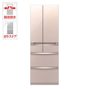 WXシリーズ 【送料無料】 置けるスマート大容量 クリスタルブラウン MITSUBISHI MR-WX52C-BR [冷蔵庫 (517L・フレンチドア)]