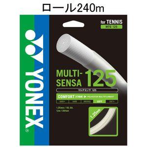 YONEX MTG125-2 011 ヨネックス テニス ストリング(ロール他)(ホワイト) マルチセンサ125(240M)