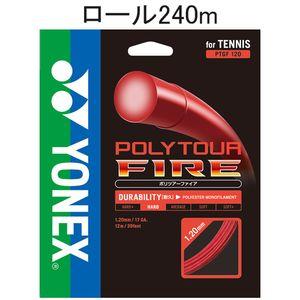 YONEX PTF120-2 001 ヨネックス テニス ストリング(ロール他)(レッド) ポリツアーファイア(240M)