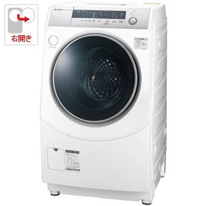 (標準設置料込)ES-H10B-WR シャープ 10.0kg ドラム式洗濯乾燥機【右開き】 ホワイト系 SHARP