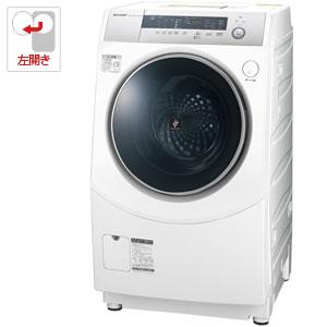 (標準設置料込)ES-H10B-WL シャープ 10.0kg ドラム式洗濯乾燥機【左開き】 ホワイト系 SHARP