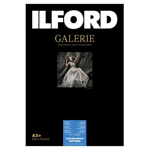422393 イルフォード インクジェット用紙 コットンアーティストテクスチャード 厚手 テクスチャードマット面質 A3+ 25枚 ILFORD GALERIE COTTON ARTIST TEXTURED ギャラリー ファインアート コットン