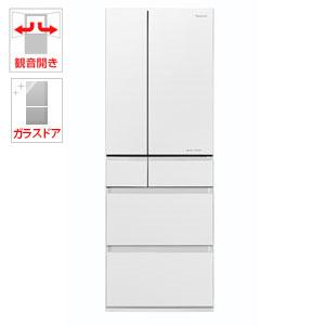 (標準設置料込)NR-F503HPX-W パナソニック 500L 6ドア冷蔵庫(マチュアホワイト) Panasonic エコナビ