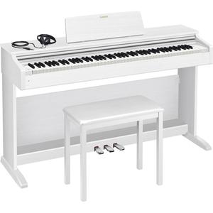 AP-270-WE カシオ 電子ピアノ(ホワイトウッド調)【椅子&ヘッドホン&楽譜集付き】 CASIO CELVIANO(セルヴィアーノ)