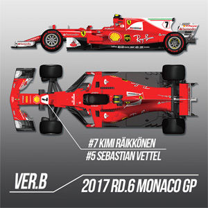 1/12 プロポーションキット Ferrari SF70H Ver.B【K608】 モデルファクトリーヒロ