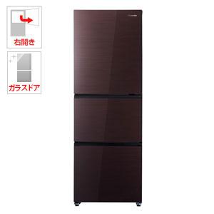 (標準設置料込)HR-G2801BR ハイセンス 282L 3ドア冷蔵庫(ダークブラウン)【右開き】 Hisense